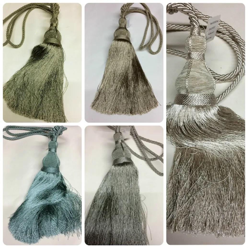 luxury designer tassel curtain tie backs