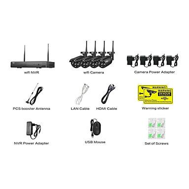 Home Surveillance Hiseeu® Wireless NVR 1080P 4 Cameras