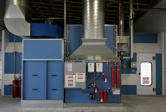 Velocity Cure Automotive Downdraft Paint Booth