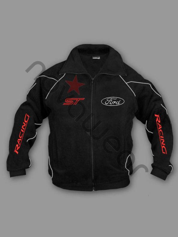 Ford ST Fleece Jacket BlackFord Clothing Ford ST Merchandise