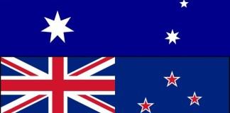 Bandeira Nova Zelandia e Australia