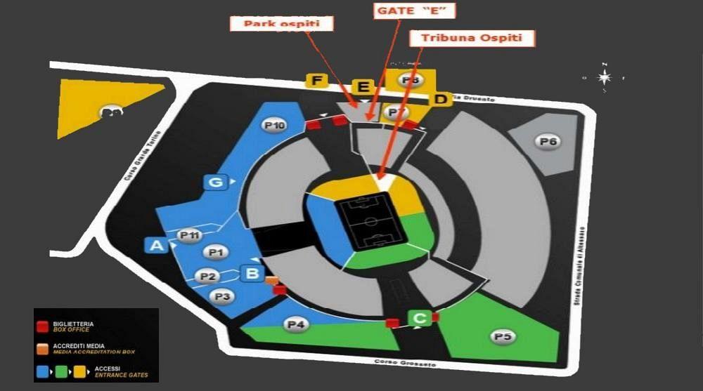 Info settore ospiti stadium Juventus  Nove da Firenze
