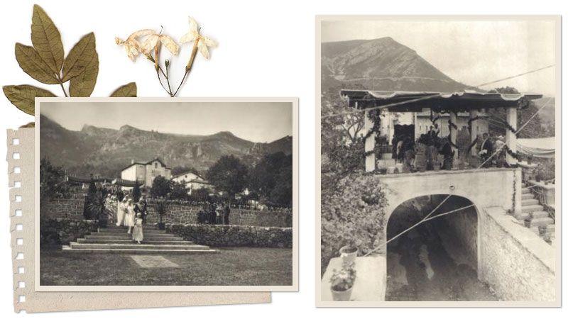 Boda de la familia Gómez Mena en los jardines de Villa Daría (Cadagua de Mena)