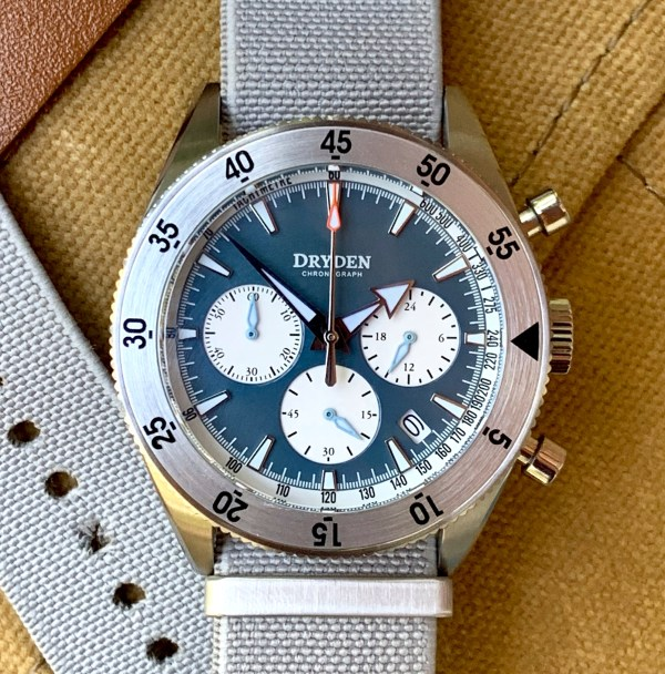 Dryden Watch Co - DCD-1 - Blue Face - Grey Straps