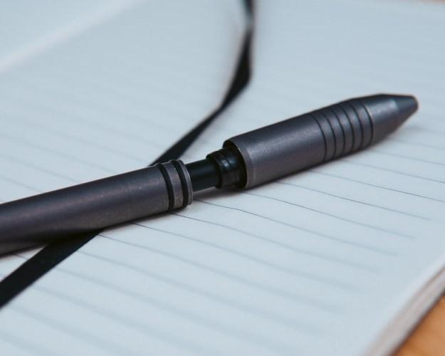 Ti Click EDC Pen Grip Dissassembled