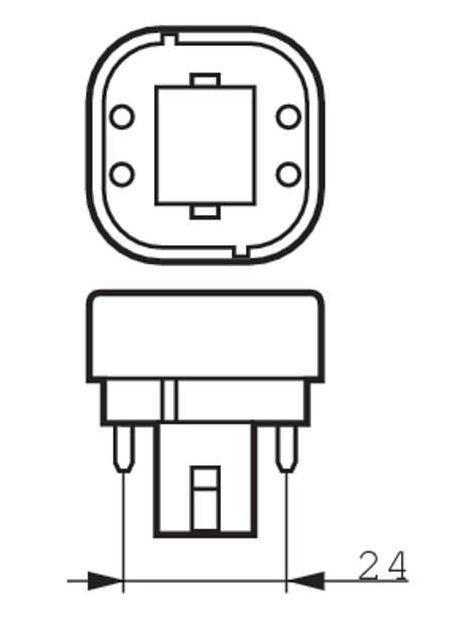 Philips CorePro LED PLC (G24q-2), 6.5W-18W, 4pin, 4000K
