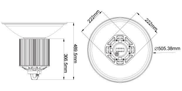YYC LED Gen2 High Bay, 250W, 26250LM, IP40