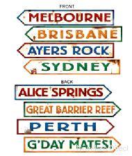 Australian Street Sign Cardboard Cutouts