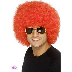 70s Funky Curly Afro Wig, Red