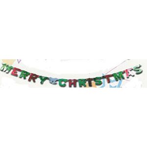 merry christmas banner foil