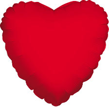 Foil Balloon Heart Solid Metallic Red
