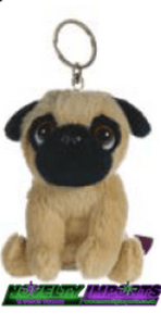 One of our adorable Pug keyrings.