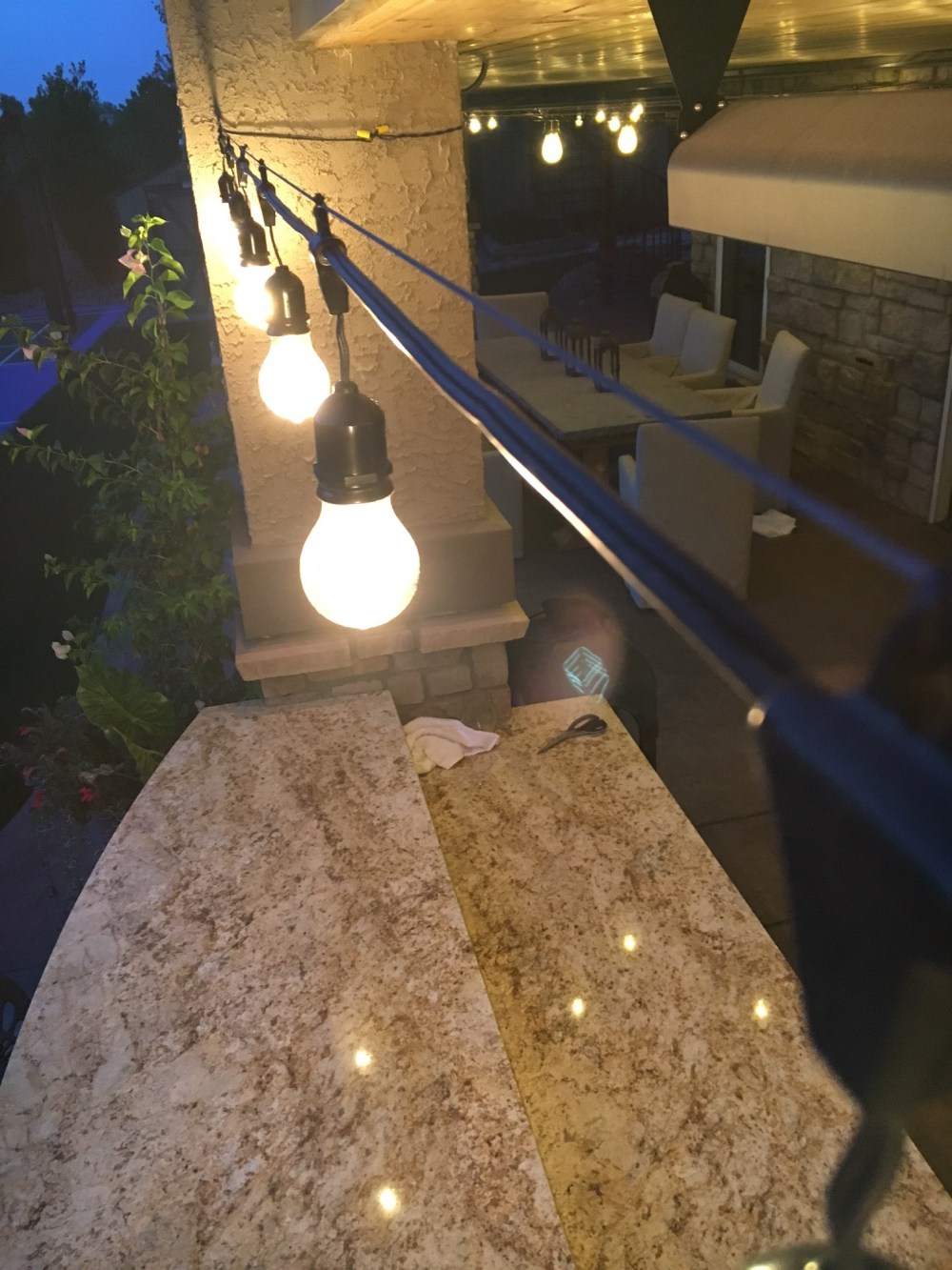 medium resolution of hanging outdoor lights