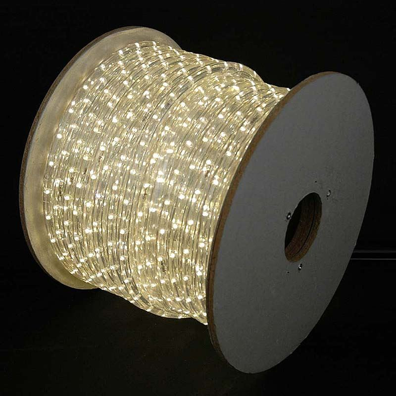 150 LED Warm White Rope Light Spool 12 Inch 120 Volt