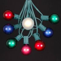 Multi Colored G40 Globe/Round Outdoor String Light Set on ...