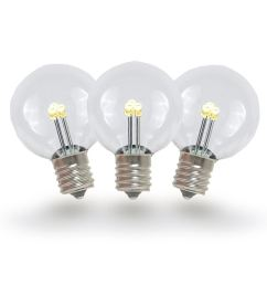 picture of warm white g30 glass led replacement bulbs 25 pack  [ 1000 x 1000 Pixel ]