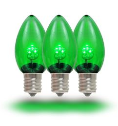 picture of c7 green glass led replacement bulbs 25 pack  [ 1000 x 1000 Pixel ]
