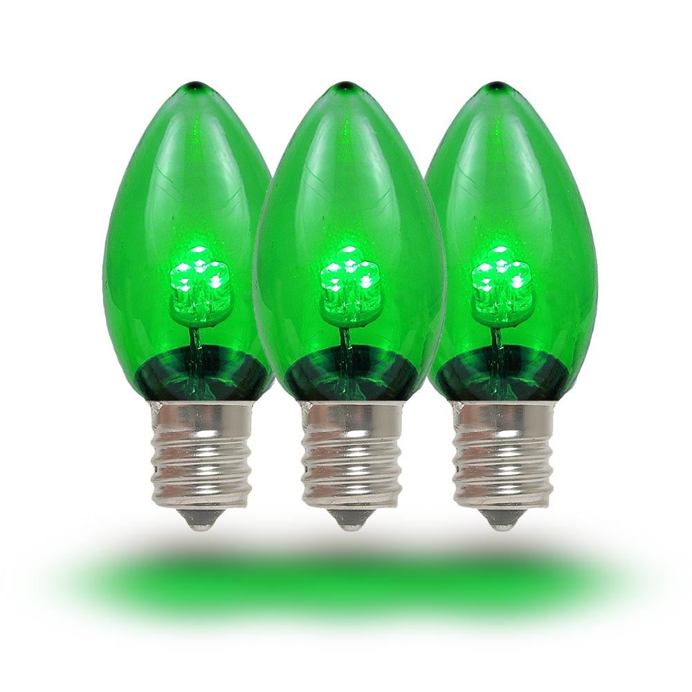 medium resolution of  picture of c7 green glass led replacement bulbs 25 pack