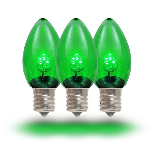 small resolution of  picture of c7 green glass led replacement bulbs 25 pack