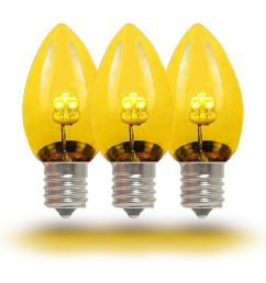 picture of c7 yellow glass led replacement bulbs 25 pack  [ 1000 x 1000 Pixel ]