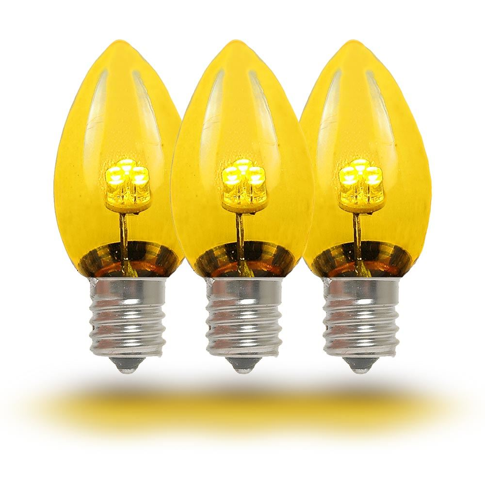 hight resolution of  picture of c7 yellow glass led replacement bulbs 25 pack