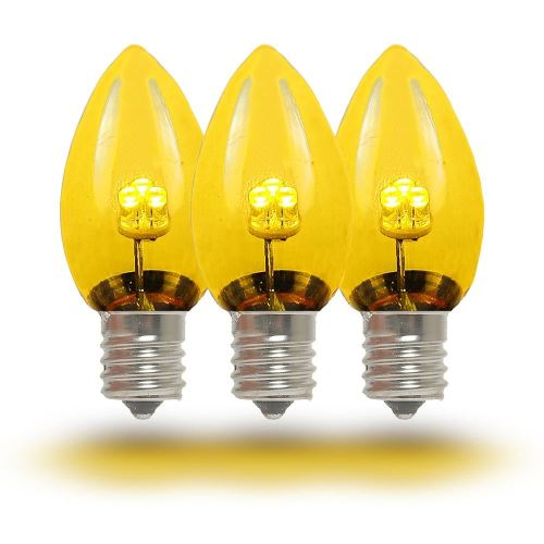 small resolution of  picture of c7 yellow glass led replacement bulbs 25 pack