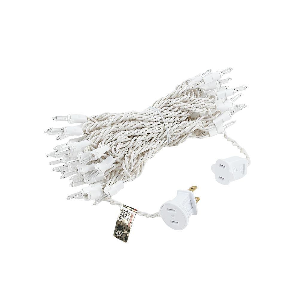Christmas Mini Lights Set 50 Light White Wire