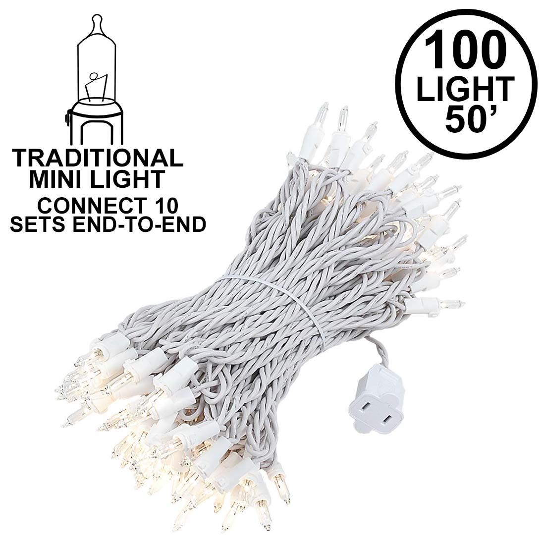 140 Light Chasing Clear Multi Function Mini Lights On