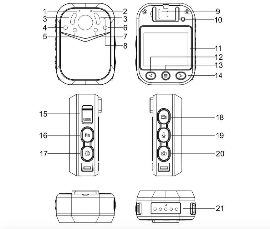 NVS2 Mini corps de l'appareil photo avec GPS WIFI Worn en