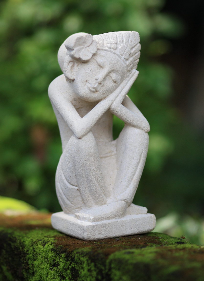 Sandstone sculpture Flower Girl