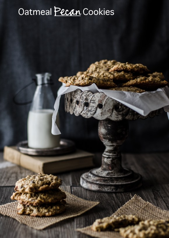 Chewy, crispy, soft oatmeal pecan cookies, with so many levels of texture and flavor in each bite.