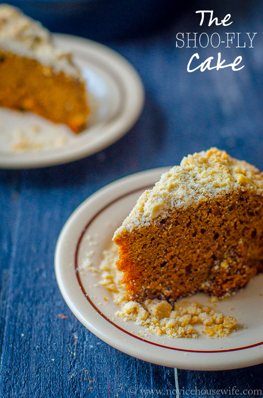 The Shoo Fly Cake- a moist molasses cake #vintage #recipe #cake
