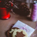 Vanilla and Chocolate Star Cookies
