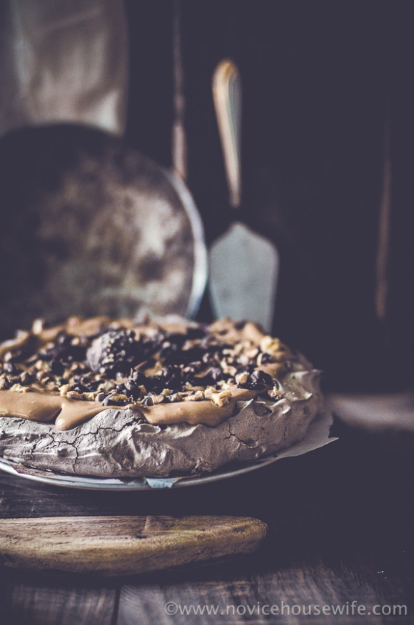 Sinful Chocolate Pavlova Recipe |The Novice Housewife