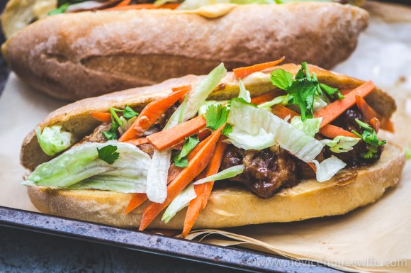 Drunken Chicken Banh Mi | The Novice Housewife