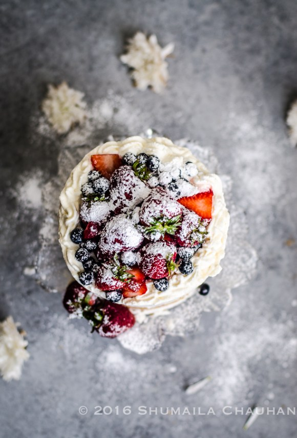 Berries and Whipped Cream Cake