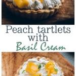 Peach Curd Tarts with Basil Whipped cream