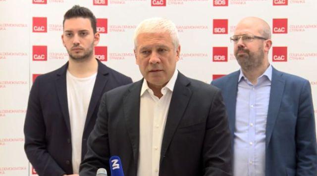 Tadić: SDS, Nova stranka i PSG izlaze zajedno na izbore na Vračaru, pobedićemo