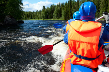 Novitas students go rafting in the summer - one of many outdoor activities to enjoy in Idaho.