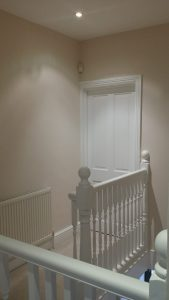 door and balustrade painted