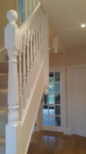 stair painted balustrade