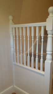 painted balustrade