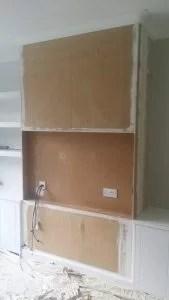 Preparing the TV Unit for decoration