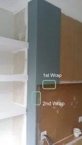 wrap wallpaper around the edge