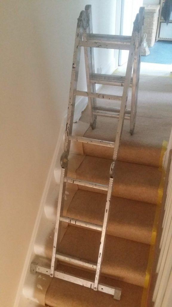 combination ladder folded
