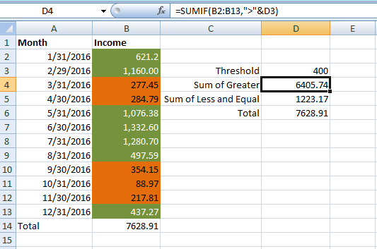 excel how to make a blue cell 1