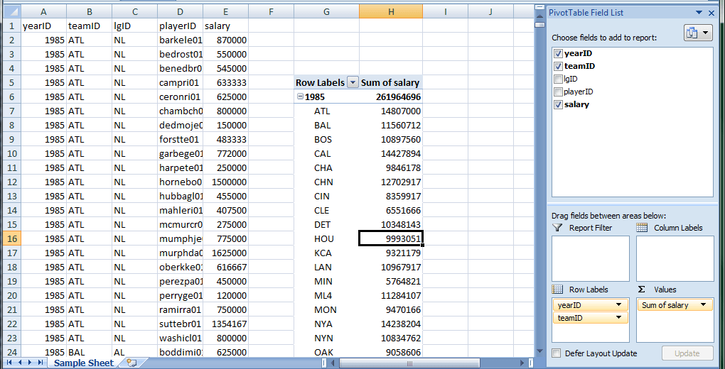 Excel Pivot Table using Apache POI | Novixys Software Dev Blog