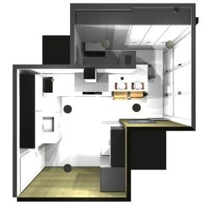 2637 Estudiar y valorar cocina integrada de 13 a 14 m2