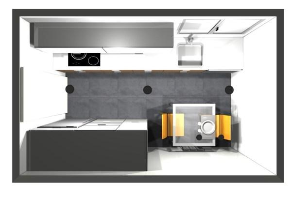 2802 Estudiar y valorar cocina integrada de 7 a 8 m2