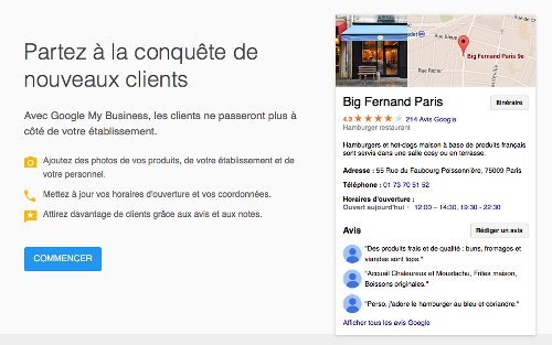 Présentation de Google my Business